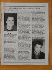 Donny Osmond Fan Club Newsletter Doin 1999. Large 20 Pages Joseph Osmonds