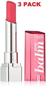 3 PACK L'Oréal Paris Colour Riche Balm Pop 440 Electric Pink 0.1 fl. oz.