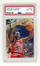 1994-95 Michael Jordan Chicago Bulls Collectors Choice 402 Gold Signature Psa 8