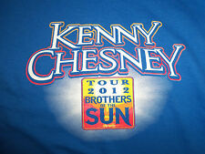 Kenny Chesney Brothers Of The Sun Tour 2012 Dates Blue Graphic Print T Shirt - S