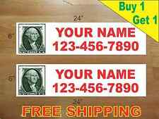 "CUSTOM PHOTO Red Text 6""x24"" REAL ESTATE RIDER SIGNS Buy 1 Get 1 FREE 2 Sided"