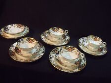 16 PIECE SET ANTIQUE ART DECO HAND PAINTED CORONET ENGLAND BONE CHINA ~ MINTY