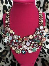 Betsey Johnson Princess Charming Crystal Cinderella Teacup Mouse Bib Necklace