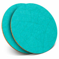 2 x Coasters - Blue Teal Cracked Ceramic Tile Home Gift #21255