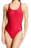 Speedo Ruby Red Women's Size 8 One-Piece Open-Back Solid Swimwear $39 #951