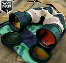 DAY/NIGHT 20X50 PRISM Ruby Coated Lense Camo Green MILITARY BINOCULARS W/ Pouch