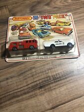 Matchbox 75 Two Packs TP-2 Police Car And Fire Engine Carded.
