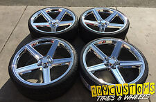 "22"" IROC 5X135 WHEELS TIRES FORD F-150 NAVIGATOR EXPEDITION BLACKWOOD"