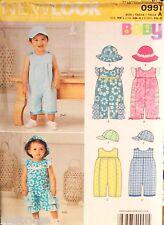 Boy Girl New Look 0991 6274 Pattern UNCUT Baby Romper Hat Cap NB-S-M-L (7-24 lb)