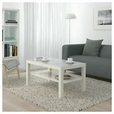 White Coffee Table Living Room Furniture Modern Design With Shelf Brand new