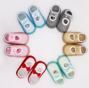 Baby Girls Boy Anti-slip Socks Toddler Newborn Slippers Shoes Boots 0-36 Months