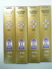 Gonesh Stick Incense Numbe 6 Ancient Times (4 packs of 20 ) 80 Sticks