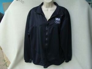 Olympic Committee jacket women's Large navy blue full zip