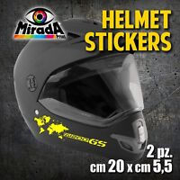 Adesivi / Stickers CASCO MOTO HELMET ENDURO BMW GS R1200 ADVENTURE MOTORBIKE