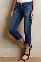 AG Adriano Goldschmied Anthropologie AGed Relaxed Straight Tomboy Crop Jeans 28
