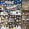 Merry Christmas Snowflake Elk Window Store Decal Wall Stickers Xmas Home Decor