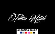 """TATTOO ARTIST Decal Sticker 14"""" Art Shop Car Window ink sign gun tattoos"""