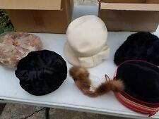 Lot of  vintage women's hats 1940's -60's ???
