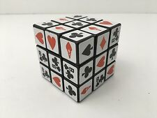 Vintage Rubik's Cube Playing Card Suits Puzzle Heart Diamond Club Spade Rare