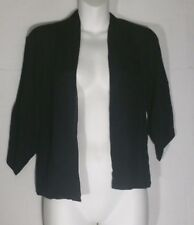 Eileen Fisher Black Cardigan Sweater PP Petite Extra Small Crinkle