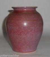 Bruning Studio Pottery Seattle Mottled Red Vase! MINT