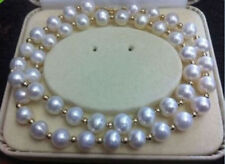 REAL NOBLEST AAA+ 8-9MM AKOYA WHITE NATURAL PEARL NECKLACE 18''
