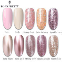 BORN PRETTY Glitter Gel Nail Polish Dazzling UV Gel Varnish Rose Gold  Color