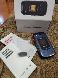Samsung Convoy 4 B690 - Blue (Verizon) Flip Cell Phone