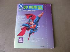 DC Comics Online AOL Diskette Superman 1995 10 Free Hrs !