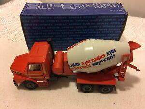 Arpra Supermini Supermix Scania T112H Cement Mixer 1:50 - Die Cast Boxed - Rare!