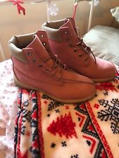 Timberland Vintage Pink Waterproof Boots Uk Size 5. 5M 12919 7756. 1990s.