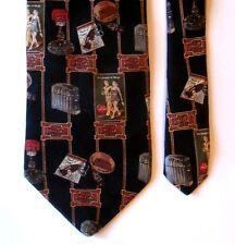 Coca Cola Men's Necktie Tie Coke Black Bottle Vintage Design Ads 5 cents USA