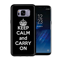 Black Keep Calm and Carry On For Samsung Galaxy S8 Plus + 2017 Case Cover by Ato