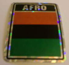 """3x4"" Afro Sticker / Afro Flag / Decal"