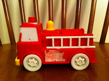 vintage Arco brand toy fire truck Collectible Plastic Large Memorabilia Fireman