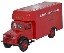 Oxford 76BD003 -bedford Usso Luton United Express -rosso 1/76 Scala = 00 Nuovo