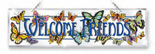 AMIA Stained Glass Hospitality Panel - Butterfly Welcome Friends- 6099 - NIB!