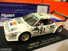 FLY SLOT 051101 BMW M1 24hr LE MANS 1985 1/32 Slot Car Racing Nuevo  New