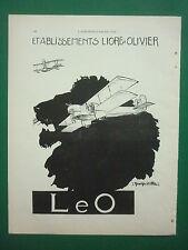 12/1930 PUB LIORE ET OLIVIER LeO AVION HYDRAVION LION GEORGES VILLA ORIGINAL AD