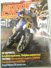 Motor Cycle Weekly Magazine, Aug 13, 1983, Swedish Road Race,   Blue box 2