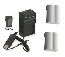 TWO 2 BLM-5 SBLM-5 BLM5 Batteries + Charger for Olympus E-5 DSLR Digital Camera