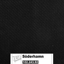 IKEA Söderhamn Bezug für 3er Sofa + Armlehnen in Replösa schwarz 102.243.92
