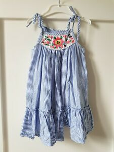 COUNTRY ROAD Sz 2-3 Striped Embroidered Dress