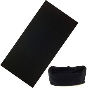 sciarpa bandana scaldacollo tubolare tipo moto softair microfibra nero UNISEX