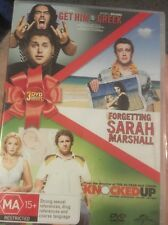 Get Him To The Greek / Forgetting Sarah Marshall / Knocked Up (DVD, 2011, 3-Dis…