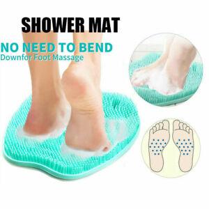 Shower Mat Massager Foot Scrubber Cleaner Bath Brush Exfoliating Feet Washer