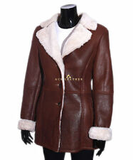 Button Shearling Hip Length Coats & Jackets for Women