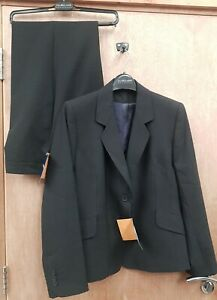 NEW **CHARCOAL** CLASSY LADIES SIZE 18R SUIT JACKET &  TROUSERS RRP £150+