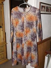 Vintage Hand Made 60's 70's Mini Dress Retro Medium A-Line Shift Polyester