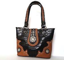 Montana West Rhinestone Cocho Western Designer Handbag SC0-8317